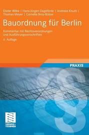 Bauordnung Fur Berlin by Dieter Wilke