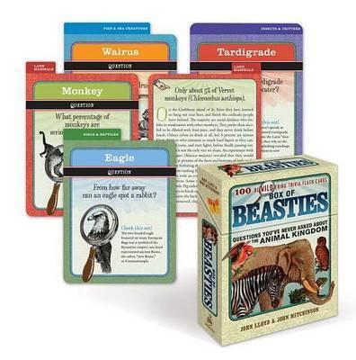 Box of Beasties: 100 Bewildering Trivia Flashcards by John Lloyd, PhD