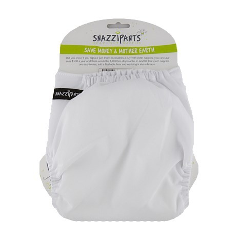 Snazzipants Pocket Reusable Nappy - White image