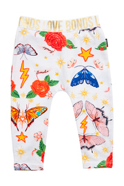 Bonds Stretchy Leggings - Born Wild White (12-18 Months)