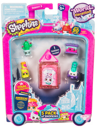 Shopkins: World Vacation - 5 Pack (Series 8 - Wave 3)