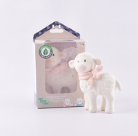 Tikiri: Lila Lamb - Rubber Toy