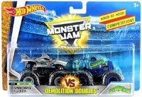 Hot Wheels: MonsterJam - Demo Doubles 2-Pack (Cyborg Shark & Crushstation)