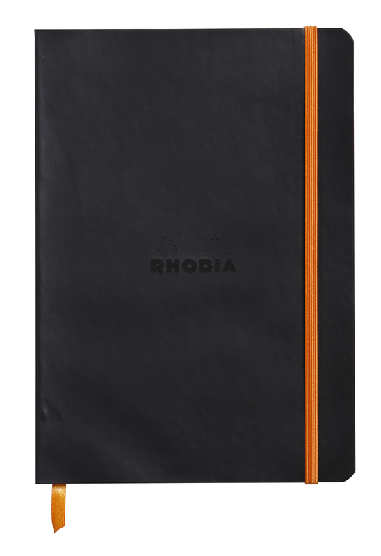 Rhodiarama A5 Softcover Notebook Lined - Black