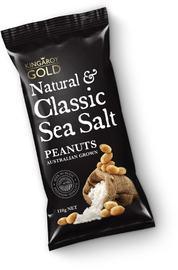 Kingaroy Gold Natural & Classic Sea Salt Peanuts (110g)