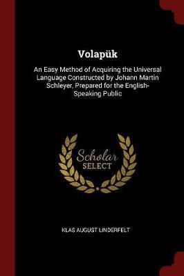 Volapuk by Klas August Linderfelt