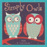 Simply Owls 2020 Square Wall Calendar by Sellers Publishing image