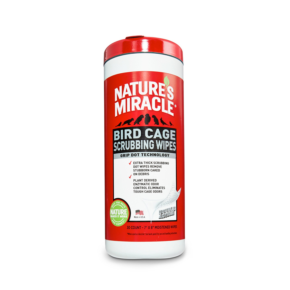 Natures Miracle: Bird Cage Scrubbing Wipes 30's image