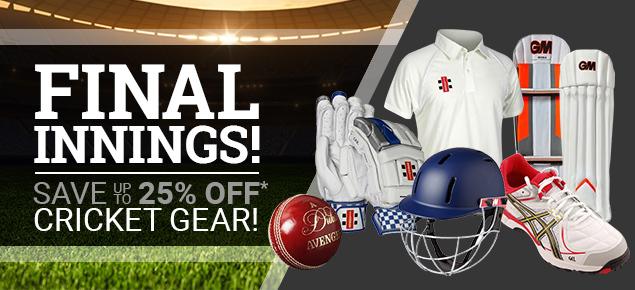 Final Innings Cricket Sale!
