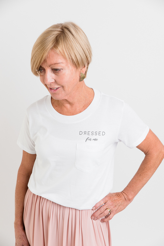 Dressed: Dressed For Me Tee White Pocket - XS