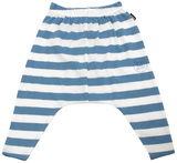 Bonds Slouchy Stripe Pants - Chambray (6-12 Months)