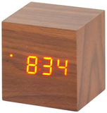 Time Cube with Red LED - Teak