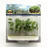 JTT: HO Wood Edge Trees - Green (9 Pack)