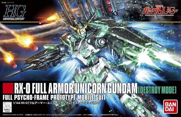 HGUC 1/144 Full Armor Unicorn Gundam (Destroy Mode)- Model Kit