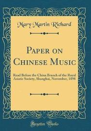 Paper on Chinese Music by Mary Martin Richard image