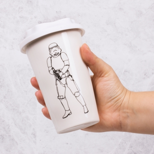 Star Wars: Original Stormtrooper Travel Mug - White
