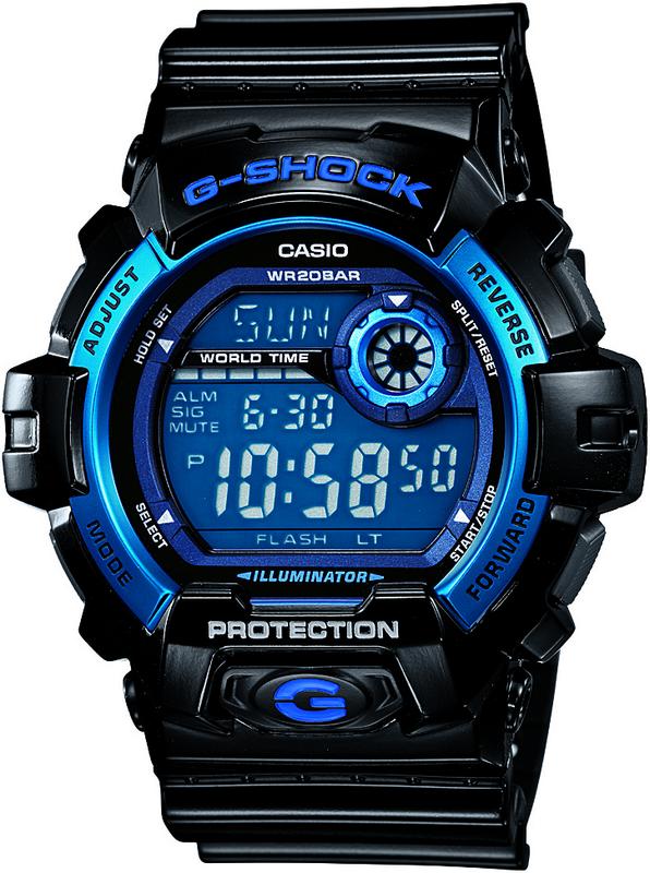 Casio G-Shock Digital Mens Black Watch G-8900A-1DR