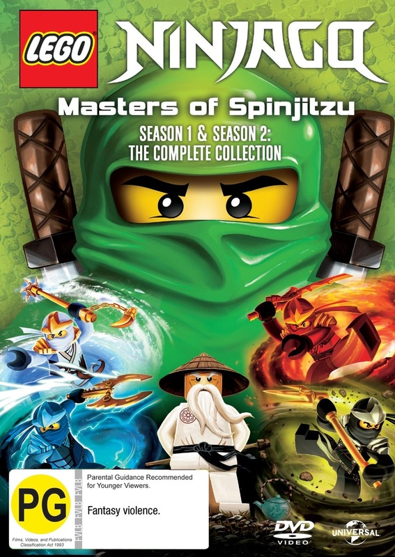 Ninjago Masters Of Spinjitzu: Series 1 & 2 on DVD