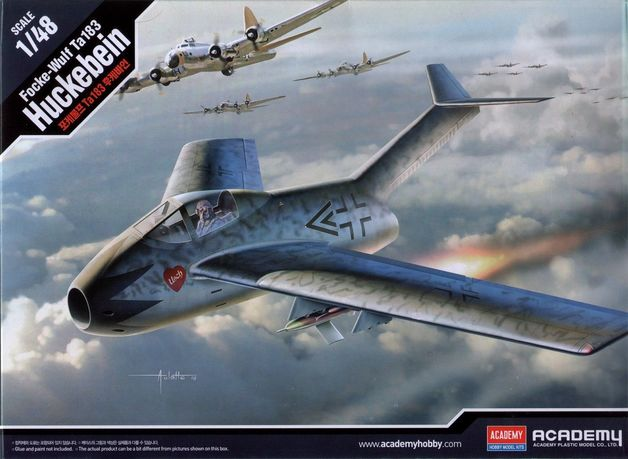 Academy 1/48 Focke Wulf Ta 183 - Scale Model