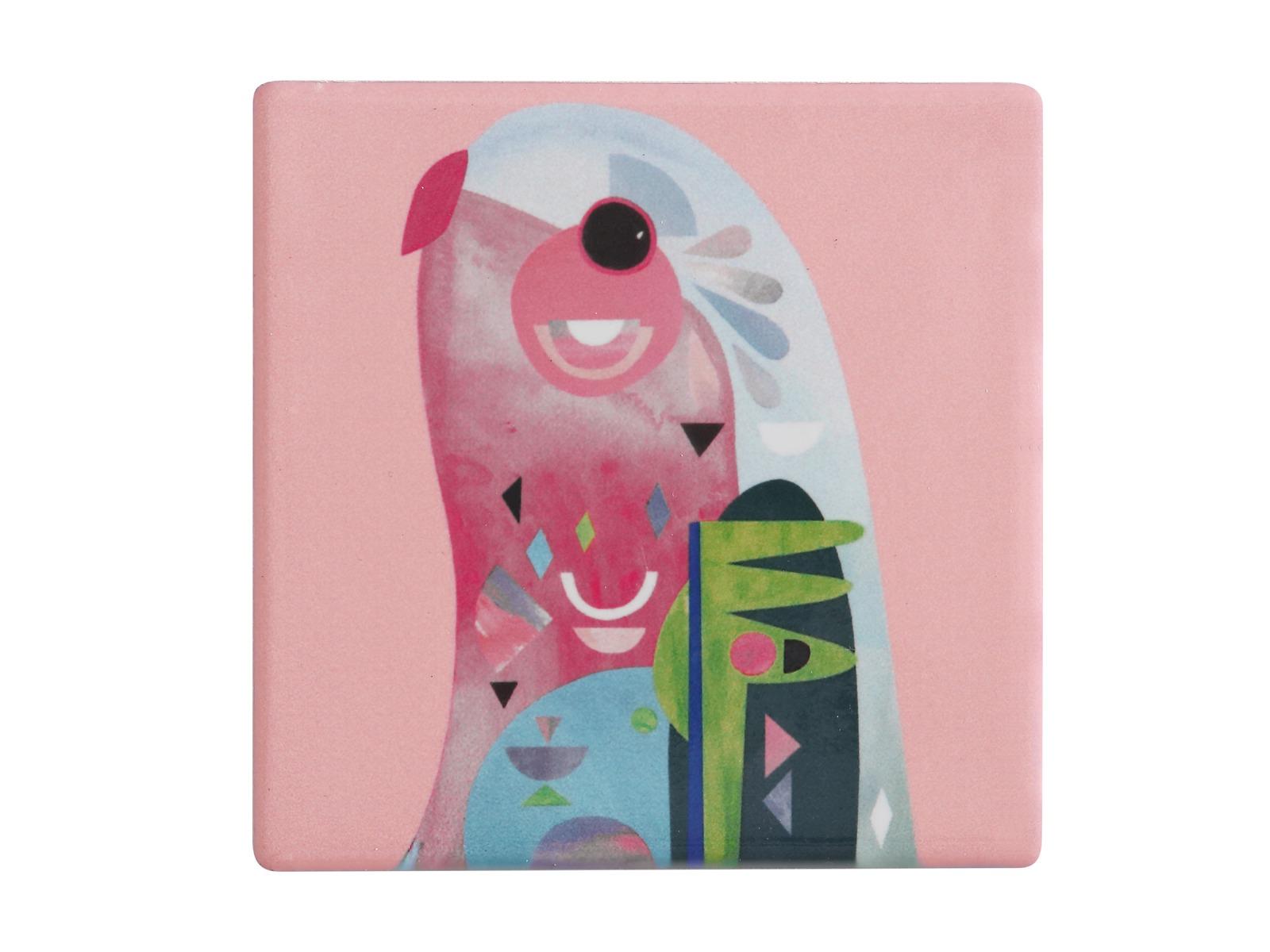 Maxwell & Williams: Pete Cromer Ceramic Square Tile Coaster - Parrot (9.5cm) image