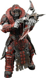 Gears of War Series 2 Action Figure - Theron Guard (With Helmet)