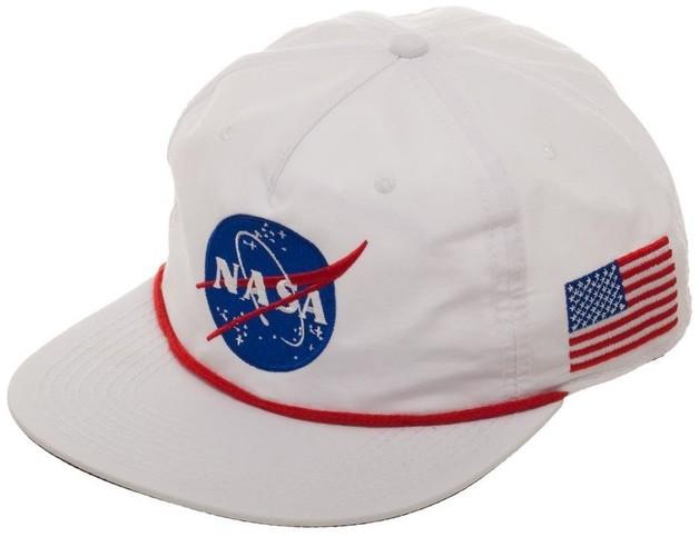 a7c306c5b NASA: USA Patch - Slouch Snapback Cap