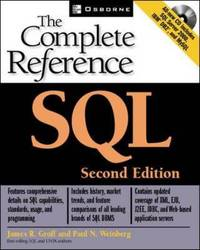 SQL: The Complete Reference by James R Groff image