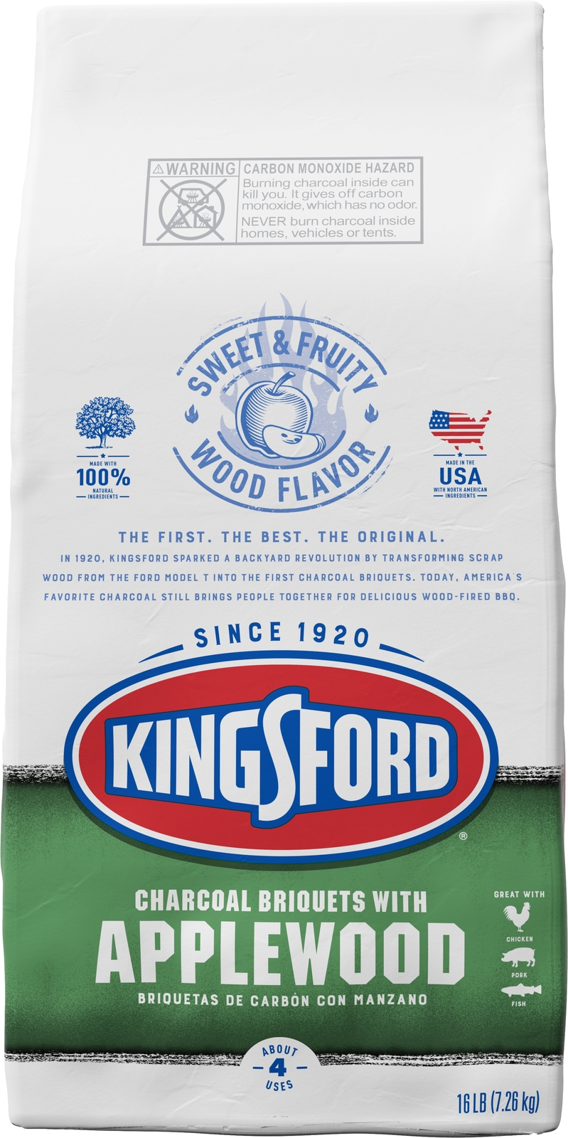 Kingsford *Applewood* Charcoal Briquettes (7.26KG) image