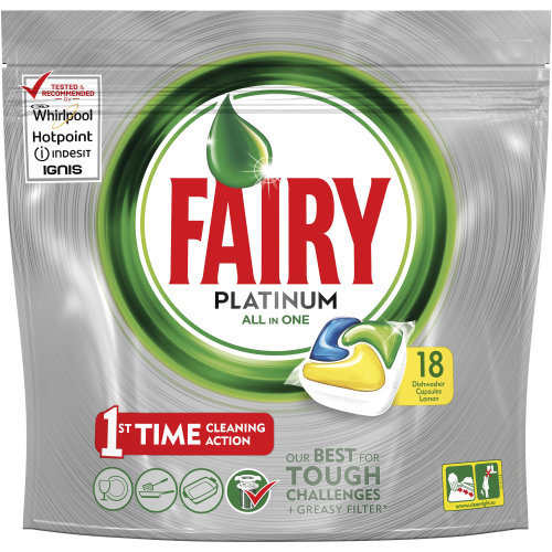 Fairy Platinum Dishwasher Tablets (Lemon)