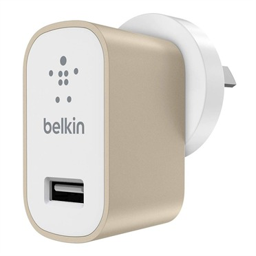 Belkin - 2.1A USB Metallic Wall Charger (Gold)