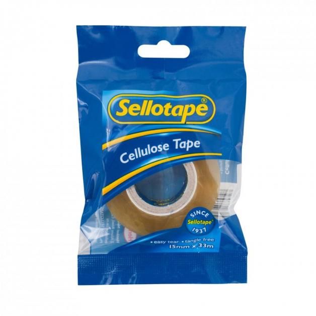 Sellotape: Cellulose Tape (15mmx33m)