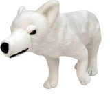 """Game of Thrones - Ghost Direwolf Plush Toy (18"""" long)"""