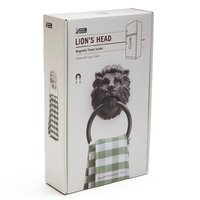 Monkey Business: Lion's Head Magnetic Towel Holder (Black) image