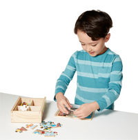 Melissa & Doug: Wooden Vehicles Jigsaw Puzzles in a Box image