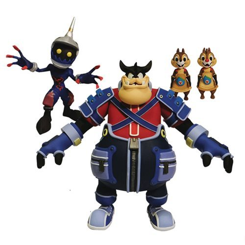 Kingdom Hearts: Select Action Figure 3-Pack - Pete/Chip & Dale/Soldier Heartless