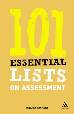 101 Essential Lists on Assessment by Tabatha Rayment