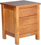 Touchwood Metro 3 Drawer Bedside (Rimu)