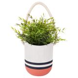 Hanging Plant Pot - Coral Blue (Large)