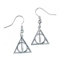 Harry Potter: Silver Plated Deathly Hallows Earrings