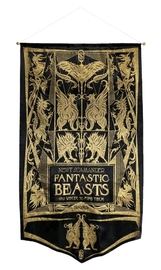 Fantastic Beasts and Where to Find Them - Newt Book Cover Gold Glitter Banner