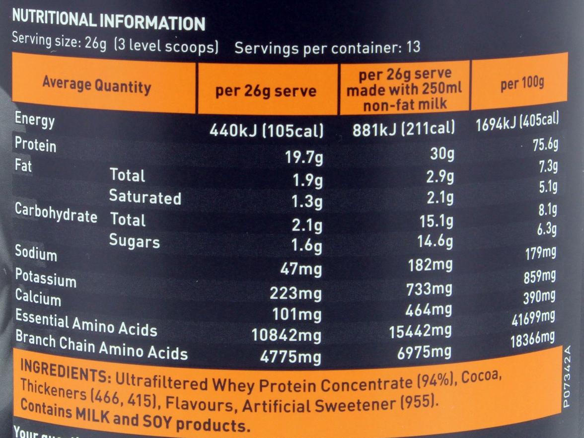 Horleys 100% Whey - Chocolate (340g) image