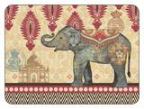 Caravan Elephants Serving Mats (Set of 2)