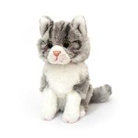 Cat: Monty Junior Sitting Grey Cat 15Cm