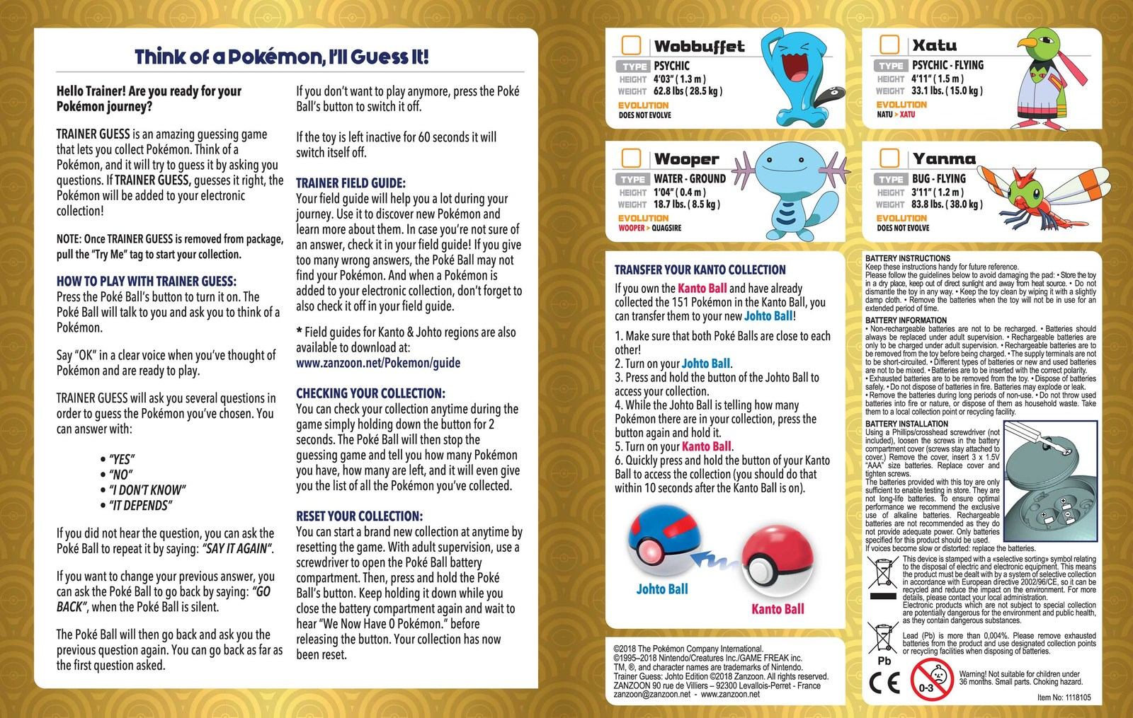 Pokemon: Guess Game - Johto Edition image