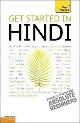 Get Started in Beginner's Hindi: Teach Yourself by Rupert Snell image