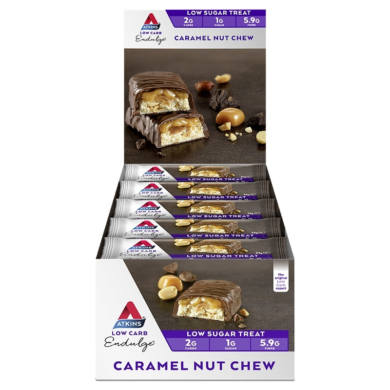 Atkins Endulge Bars - Caramel Nut Chew (15 x 34g) image