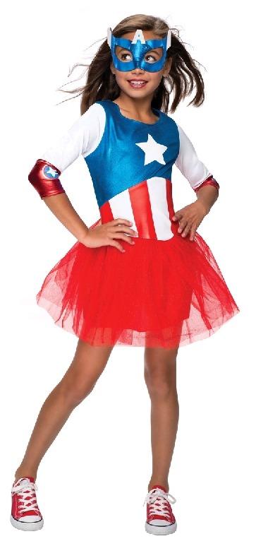 Marvel Captain America Girls Costume (Small)
