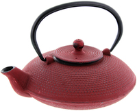 Cast Iron Teapot - Fine Hobnail Red (800ml)