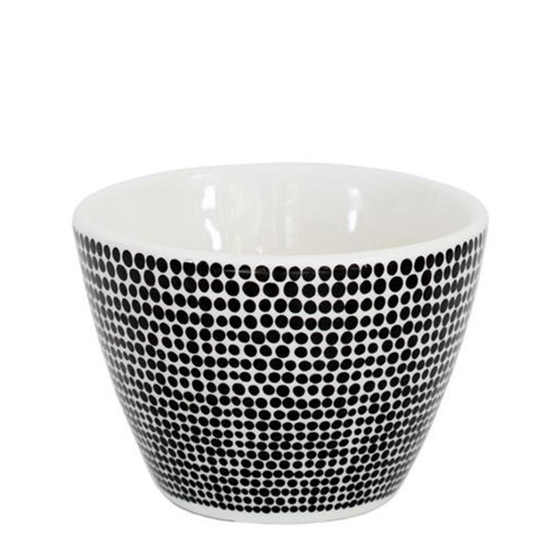 Ceramic Cotton Tip Bowl (Black Spot)