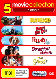 Baby's Day Out/Bushwacked/Rusty The Great Rescue/Dunston Checks In/The Sandlot on DVD image